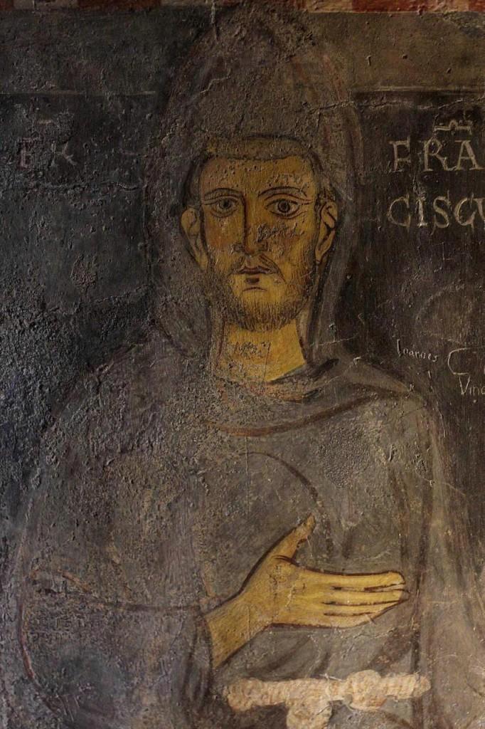 Старейшее из известных изображений Франциска, считается, что оно создано при его жизни. Роспись монастыря Святого Бенедикта в Субиако