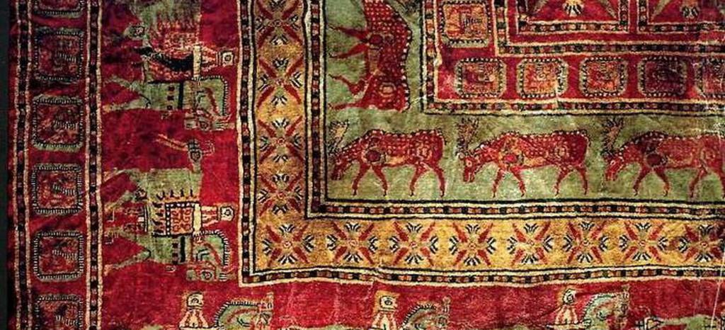Фрагмент ворсовго ковра из пятого Пазырыксого кургана