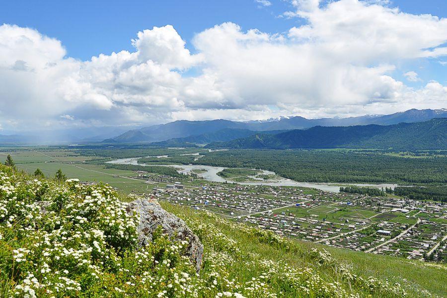 Уймонская долина,  вид на Усть - Коксу