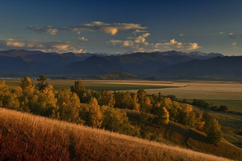 Уймонская долина и Катунский хребет Фото: Вячеслав Левицкий