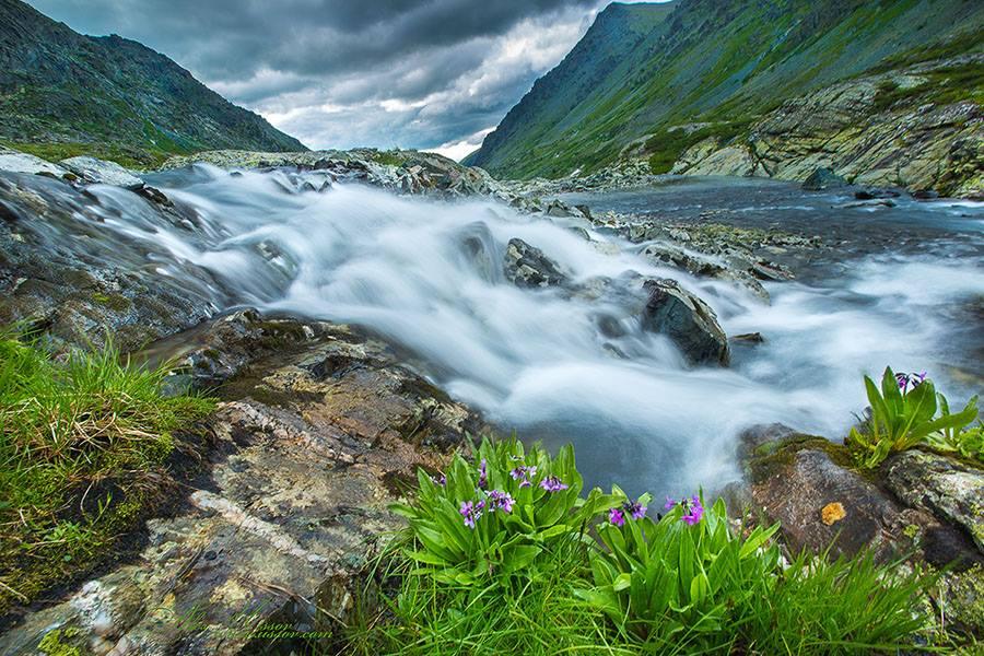 Горная речка.  Фото: Алекс Уссов