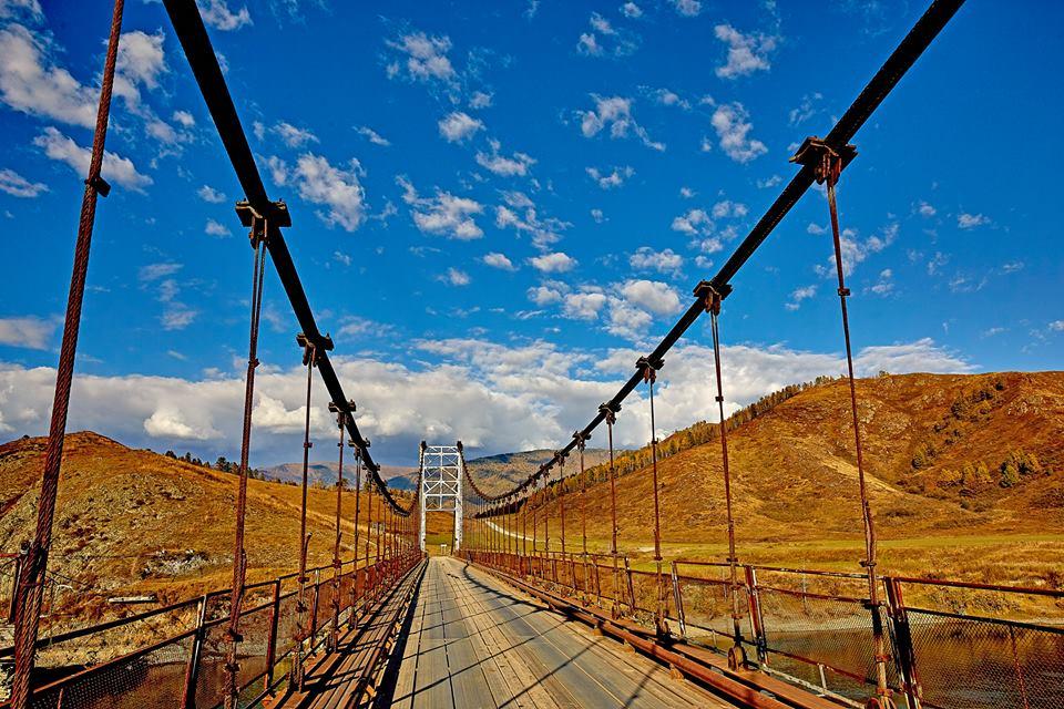 Уймонская долина. Мост через Катунь. Фото: Андрей Кузнецов