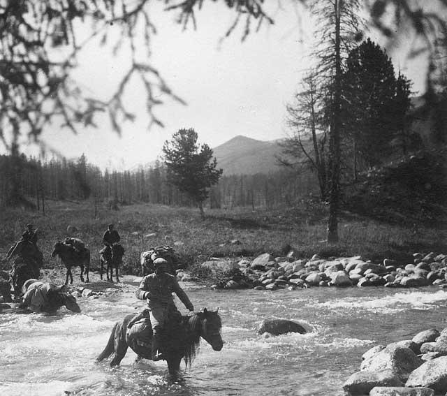 Фото сделано на Алтае в 1926 году во время Центрально-Азиатской экспедиции
