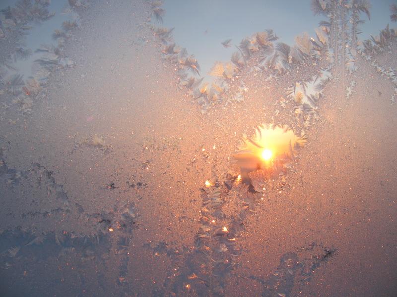 Зимние рисунки на восходе. Фото: Марианна Яцышина