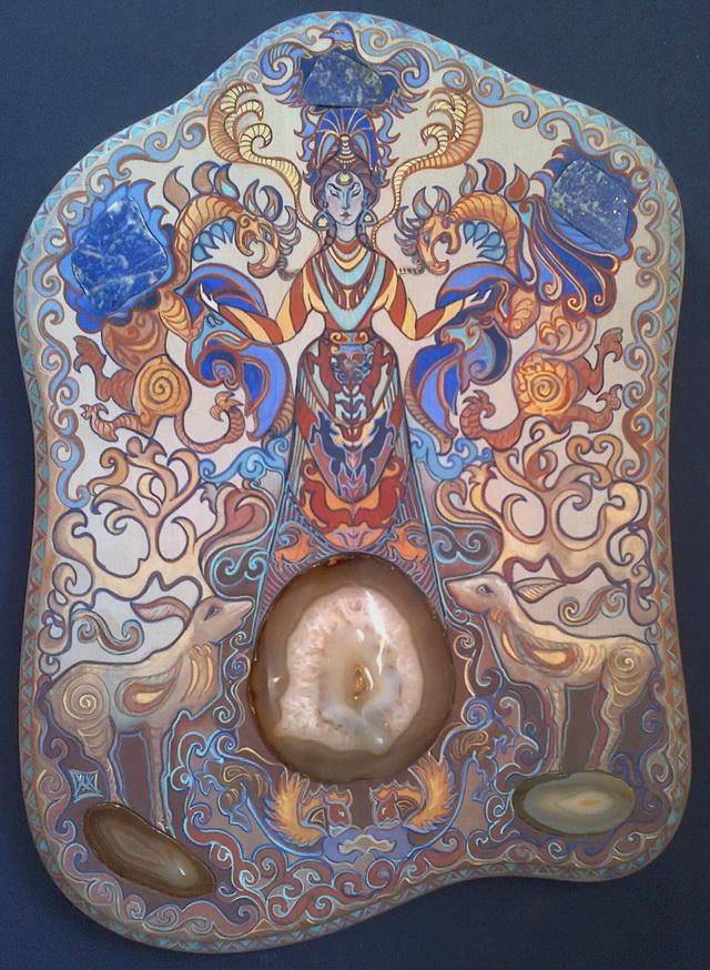 Богиня с грифонами