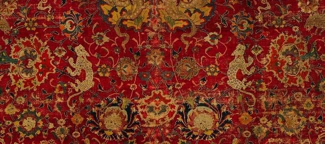 Фрагмент старинного персидского ковра
