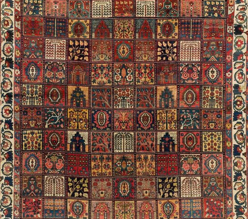 Мотив Древа Жизни в ковровой композиции