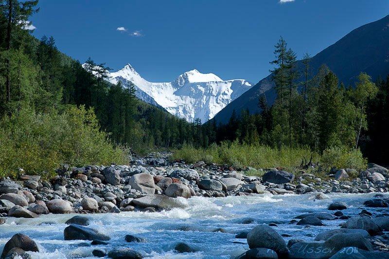 Гора Белуха и река Ак-Кем. Фото: Алексей Усов