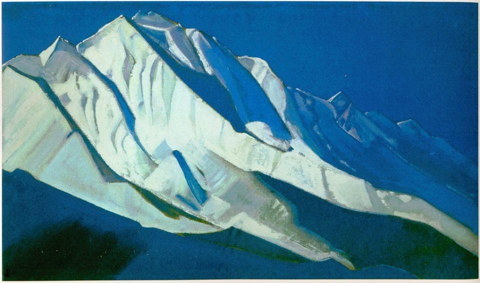 Н.К.Рерих. Святые горы Гималаи. Ракопуши. Часть хребта Каракорум в Кашмире