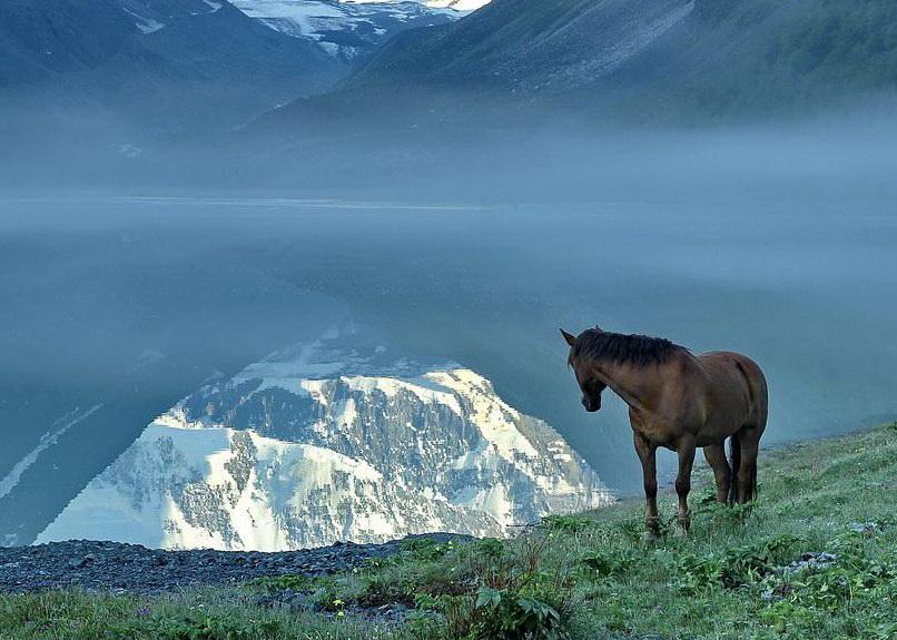 Отражение в озере Ак-Кем. Фото: Роза Ибрагимова