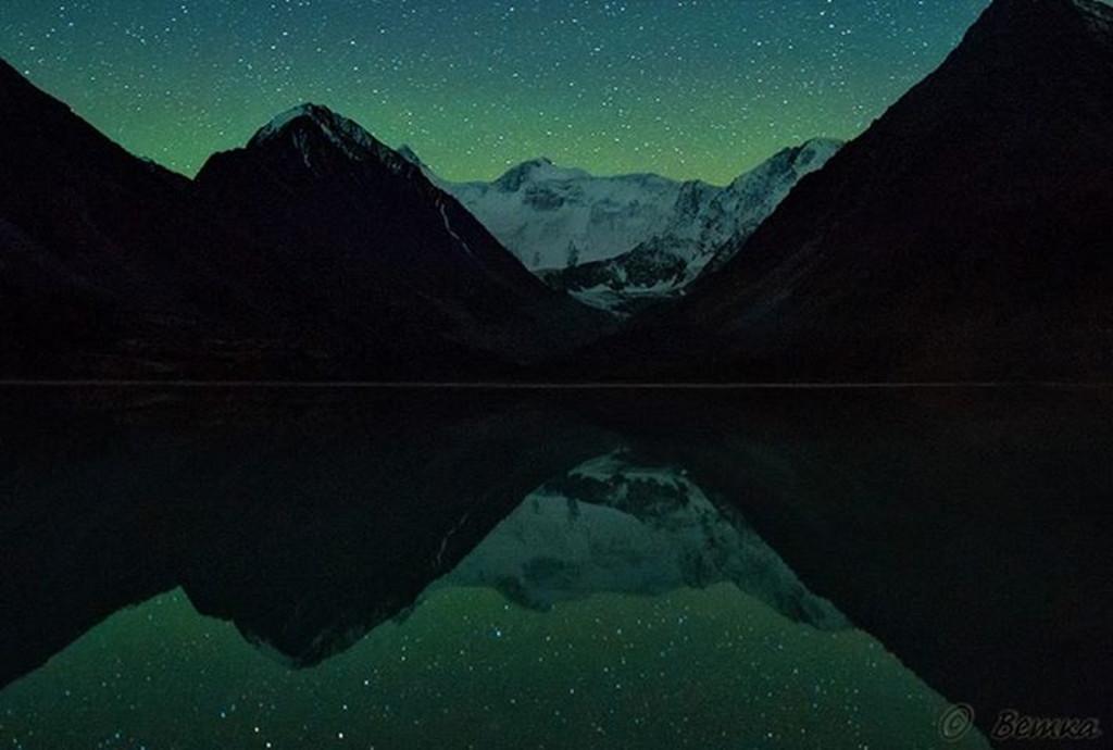 Ночь на Ак-Кемском озере.